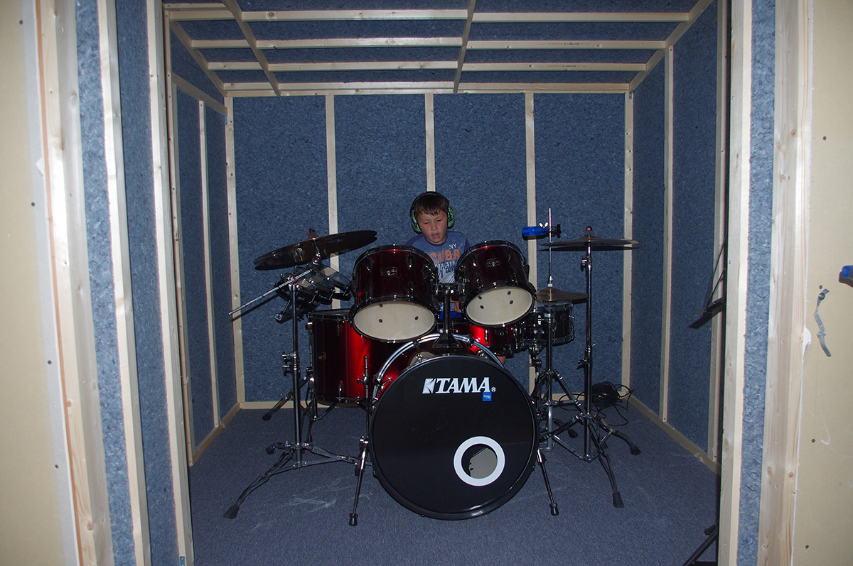 First time drumming in the booth