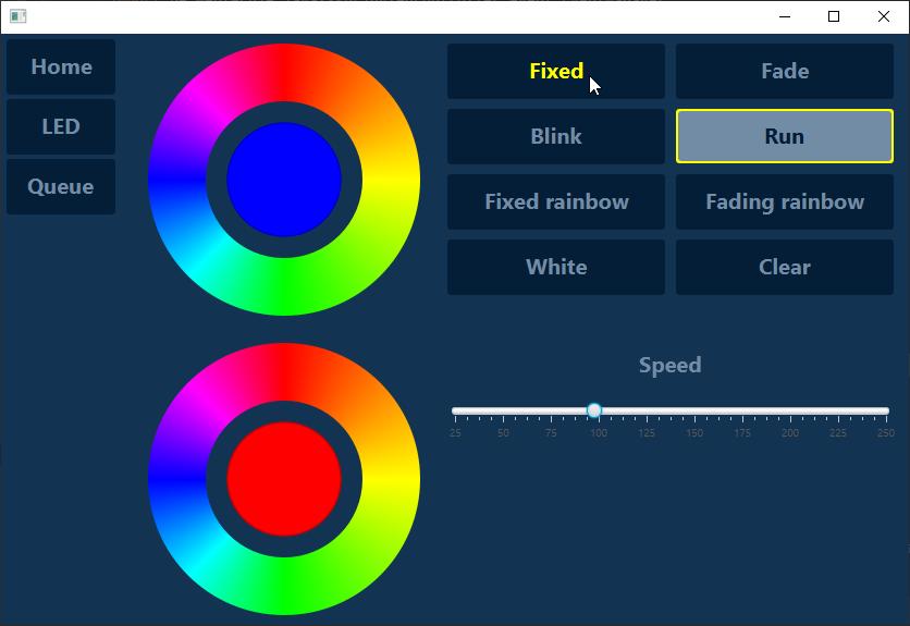 JavaFX UI with color pickers